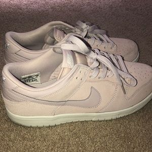 Light pink nike dunk low